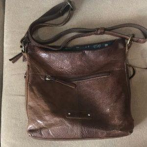 Lucky brand leather cross body